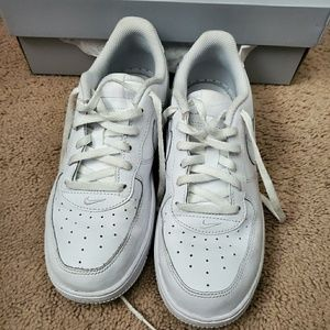 Kids white air force ones